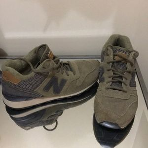 New Balance Army Green Sneakers